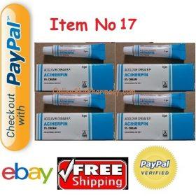 ACYCLOVIR 5g X4= 20g ACICLOVIR SKIN CREAM (Generic Zovirax) FOR COLD SORE SORES HERPES SIMPLEX ANTI VIRAL Buy Online