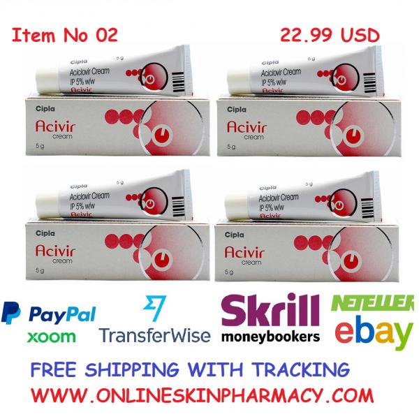 5g X4= 20g ACICLOVIR SKIN CREAM (Generic Zovirax) FOR COLD SORE SORES HERPES SIMPLEX ANTI VIRAL Aciclovir Buy Online