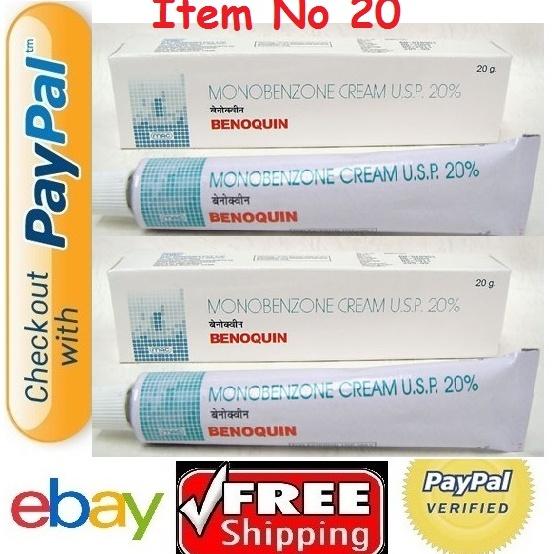 Benoquin Monobenzone Cream 20g X 2 CREAM whitening Vitiligo