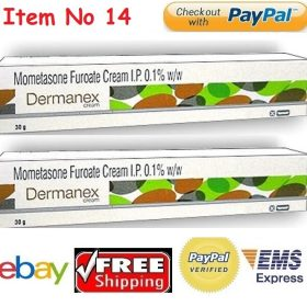 DERMANEX 30g X 2 CREAM Mometasone furoate INFLAMMATION DERMATITIS ECZEMA PSORIASIS GSK Buy Online